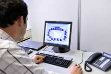 Guy Working with Building Management System