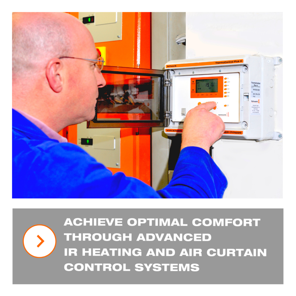 achieve optimal comfort through advanced IR heating and air curtain control systems